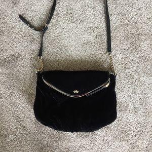 Juicy Couture black velvet shoulder bag